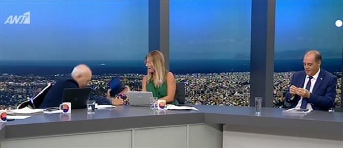 Καλημέρα Ελλάδα: Όταν ο Γιώργος Παπαδάκης έπεσε... από την καρέκλα (βίντεο)
