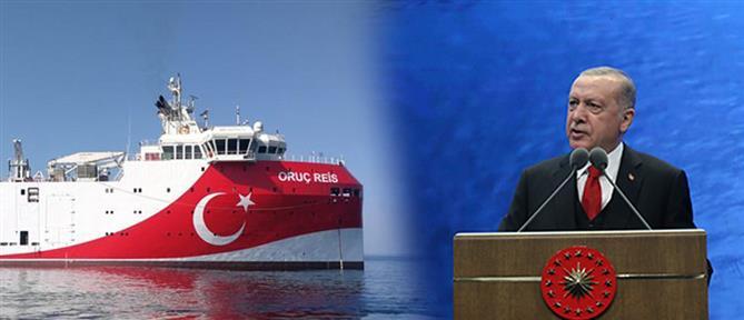 Νέες απειλές από τον Ερντογάν: Θα υπερασπιστούμε με κάθε μέσο το Oruc Reis