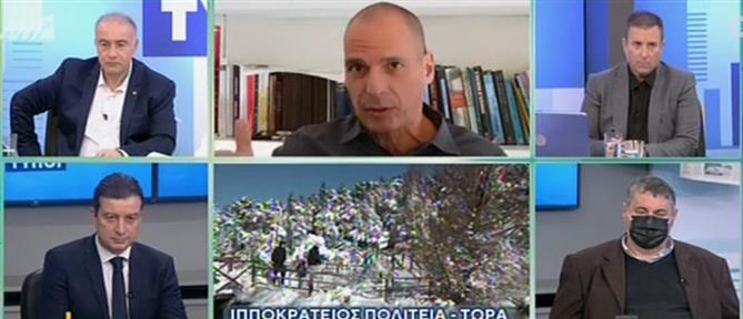 """Βαρουφάκης στον ΑΝΤ1: """"υποχρεωτικό"""" το κούρεμα οφειλών από φόρους - εισφορές (βίντεο)"""