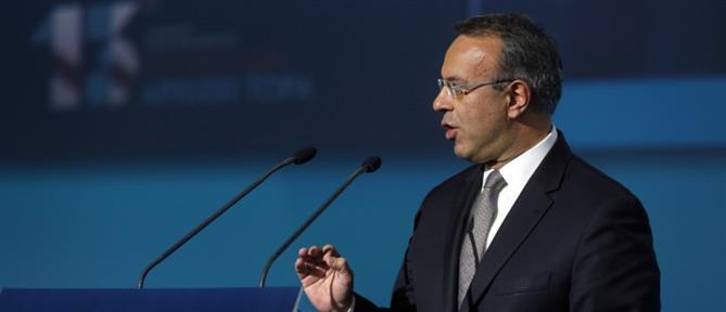 Σταϊκούρας: Η βελτίωση της οικονομίας θα έχει θετική επίπτωση στη φορολογία