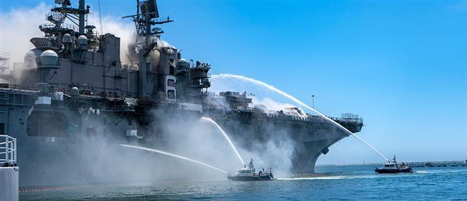 ΗΠΑ: Δεκάδες τραυματίες από τη φωτιά σε πλοίο του Πολεμικού Ναυτικού (εικόνες)