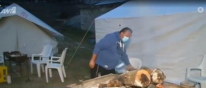 Ελασσόνα: σεισμόπληκτοι θετικοί στον κορονοϊό (βίντεο)