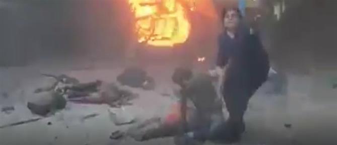 Ντοκουμέντο από τη Συρία: Τούρκοι βομβάρδισαν αυτοκινητοπομπή με δημοσιογράφους (βίντεο)