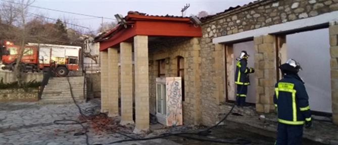 Φωτιά σε ανακαινισμένο σχολείο (εικόνες)