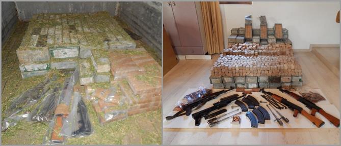 Το οπλοστάσιο που βρέθηκε σε φορτηγό στην Κρήτη (εικόνες)