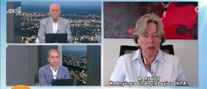 Κορονοϊός - Λινού στον ΑΝΤ1: Να μην βγάλουμε τις μάσκες στους εξωτερικούς χώρους