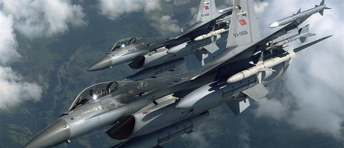 Νέες παραβιάσεις από τουρκικά F-16 και εικονική αερομαχία