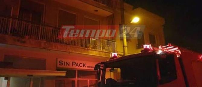 Στις φλόγες διαμέρισμα πρώτου ορόφου (εικόνες)