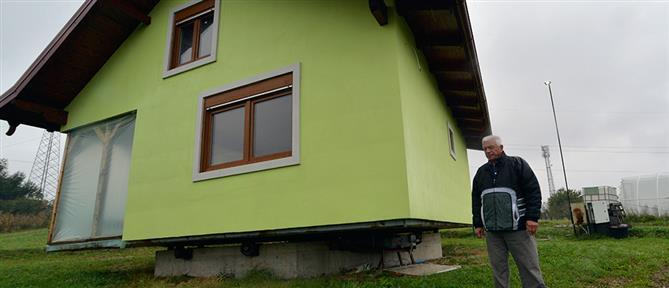 Έφτιαξε περιστρεφόμενο σπίτι για να γλιτώσει την... γκρίνια της γυναίκας του (βίντεο)