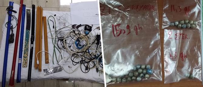 Κινητά, ναρκωτικά και… αυτοσχέδια ποτά στις φυλακές Κομοτηνής (εικόνες)