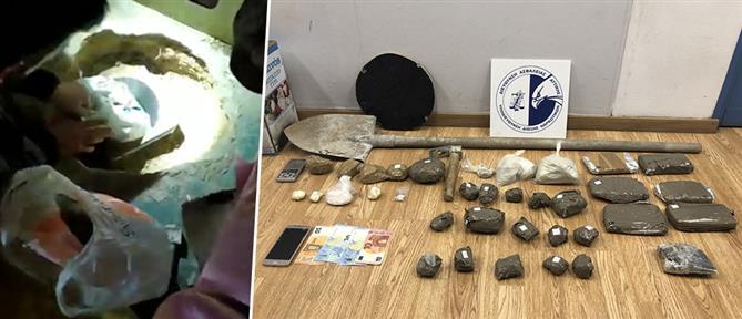 Αστυνομικοί βρήκαν σε κρύπτη 5 κιλά ηρωίνης (βίντεο)