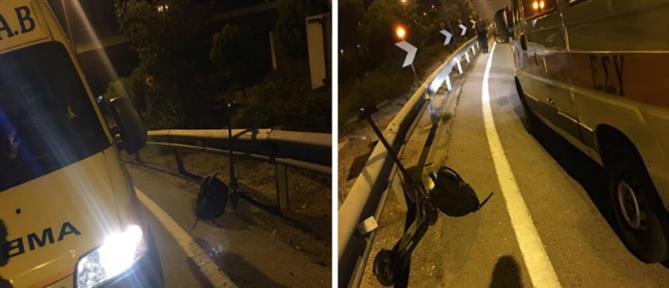Αυτοκίνητο συγκρούστηκε με ηλεκτρικό πατίνι (εικόνες)