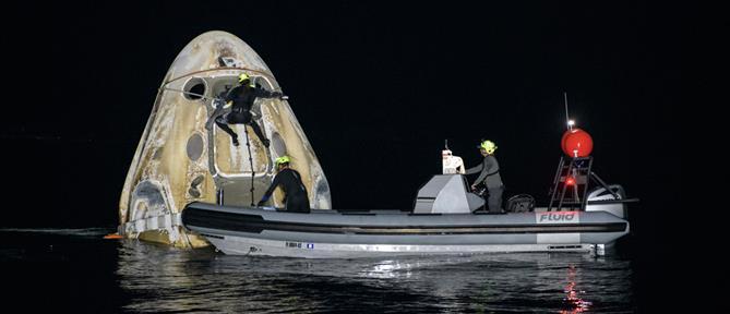 SpaceX: Επιστροφή στη Γη μετά από 167 μέρες στο Διάστημα (βίντεο)