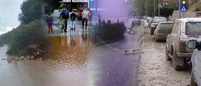 Πλημμύρες, καταστροφές και εγκλωβισμένοι από τη νέα κακοκαιρία