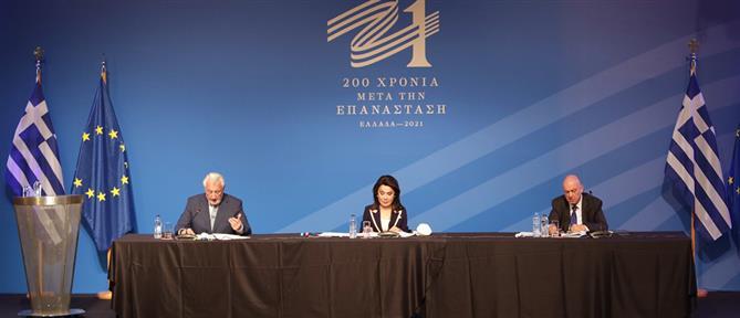 """Αγγελοπούλου για """"Ελλάδα 2021"""": Στόχος η επέτειος να αποκτήσει διεθνή εμβέλεια"""