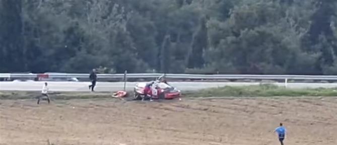 Ελασσόνα: Τρομακτικό ατύχημα με ανατροπή στην 5η Ανάβαση (βίντεο)