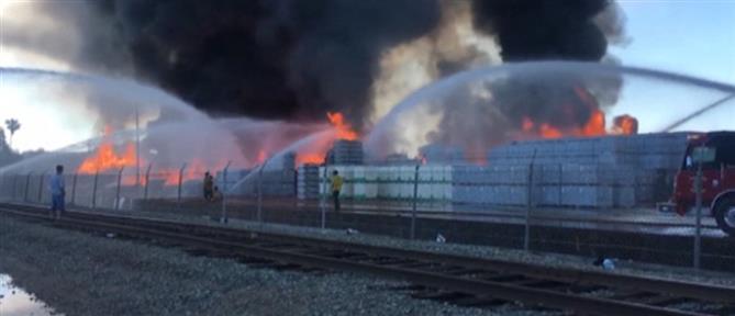 Φωτιά σε εργοστάσιο (βίντεο)