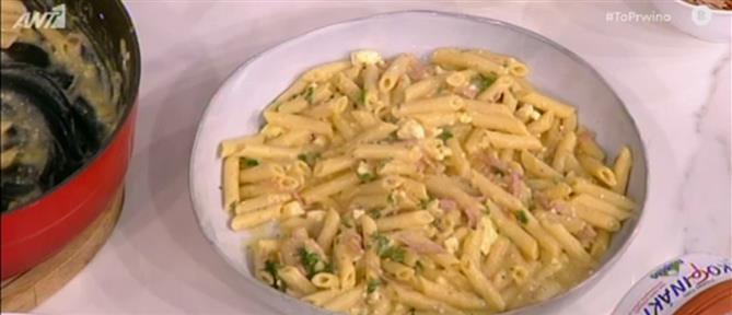 Πέννες με σάλτσα κολοκύθας από τον Βασίλη Καλλίδη