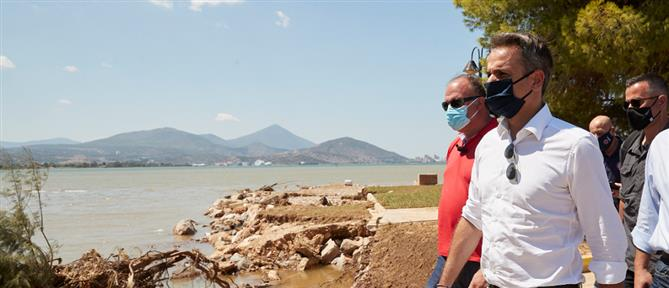 Μητσοτάκης από Εύβοια: ταχύτατα οι αποζημιώσεις για τη στήριξη των πληγέντων
