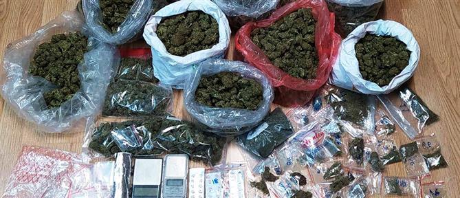 Συλλήψεις για κατοχή περίπου έξι κιλών κάνναβης