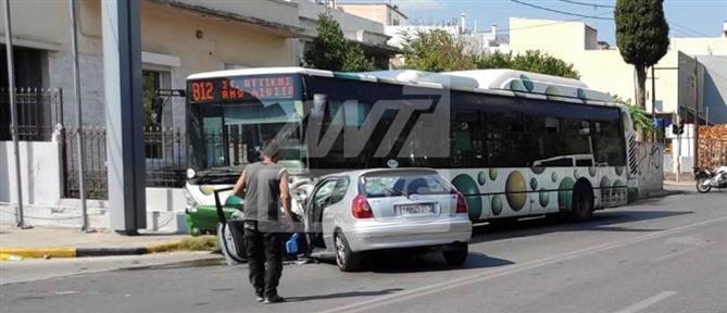 Τροχαίο δυστύχημα στο Καματερό: Αυτοκίνητο παρέσυρε γυναίκα και έπεσε σε λεωφορείο