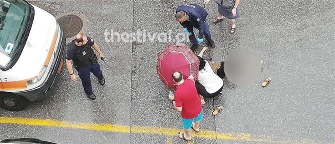 Επίθεση με τσεκούρι σε γυναίκα που περπατούσε στην Θεσσαλονίκη (εικόνες)