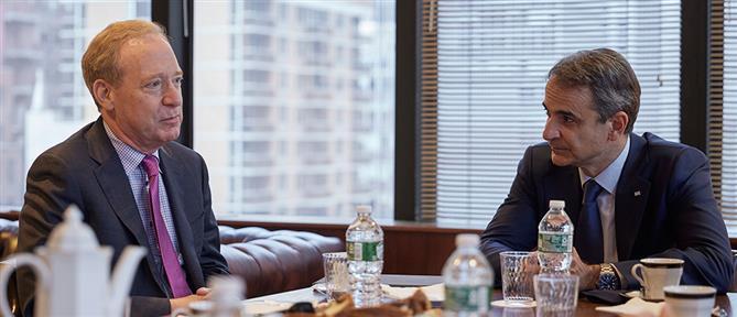 Συνάντηση Μητσοτάκη με τον Πρόεδρο της Microsoft