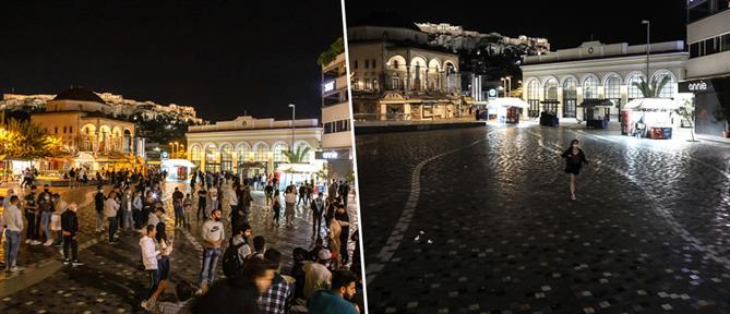 """Κορονοϊός: """"νέκρωσε"""" η μισή Ελλάδα την νύχτα (φωτορεπορτάζ)"""
