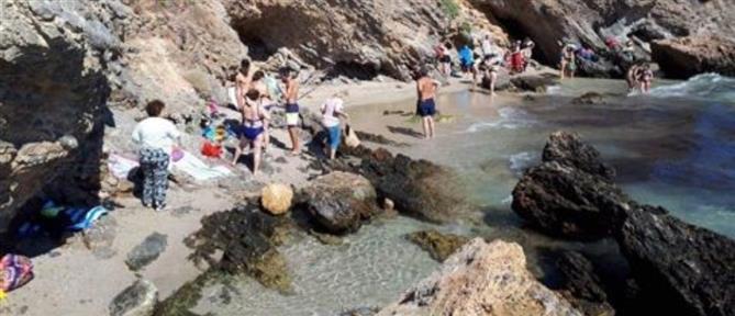 Εκκένωση παραλίας στο Πόρτο Ράφτη μετά τον σεισμό