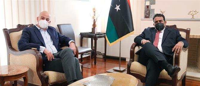 Ο Δένδιας συναντήθηκε με τον Πρόεδρο της Λιβύης