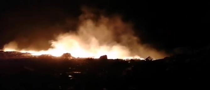Κάλυμνος: φωτιά στη χωματερή (εικόνες)