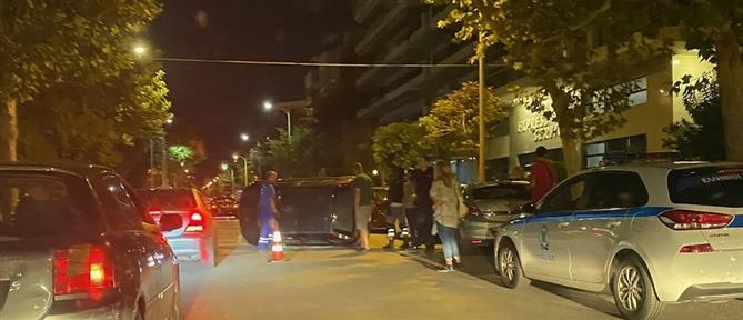 Θεσσαλονίκη: Τροχαίο σοκ με ανατροπή (εικόνες)