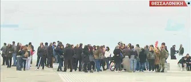 Θεσσαλονίκη – κορονοϊός: συγκέντρωση πολιτών που αντιδρούν στα μέτρα