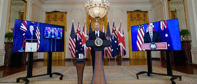 AUKUS: ΗΠΑ, Βρετανία και Αυστραλία σε κοινό μέτωπο κατά της Κίνας