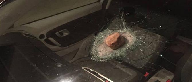 Τρόμος στην Εθνική: Οδηγοί δέχθηκαν επίθεση με πέτρες (εικόνες)