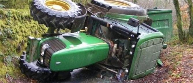Αγρότης σκοτώθηκε πέφτοντας με το τρακτέρ του σε γκρεμό