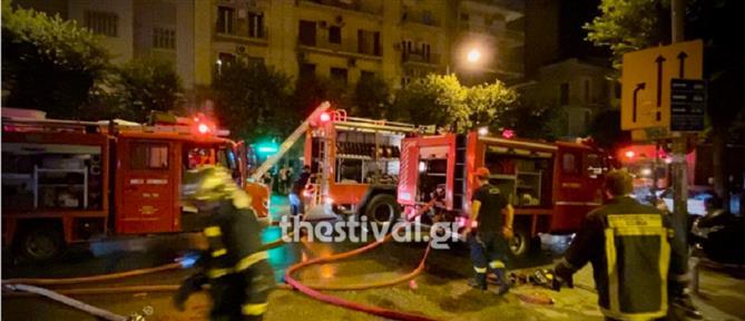 Μεγάλη φωτιά σε διαμέρισμα στη Θεσσαλονίκη