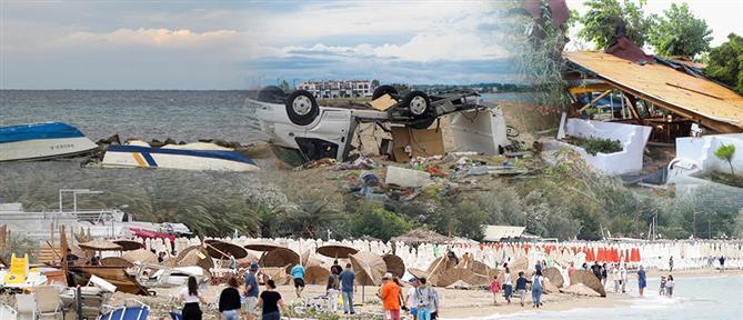 """Δεν """"πληγώθηκε"""" ο τουρισμός στην Χαλκιδική από το φονικό μπουρίνι (βίντεο)"""