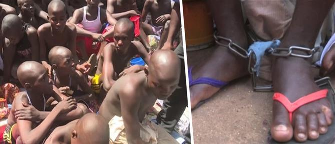 Φρίκη: Δεκάδες παιδιά και άνδρες κρατούνταν αλυσοδεμένοι (βίντεο)