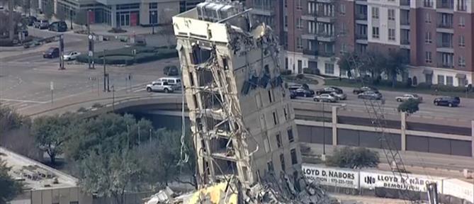"""""""Πεισματάρικο"""" κτήριο… αρνείται να κατεδαφιστεί (βίντεο)"""