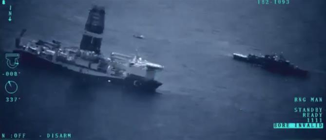 Βίντεο με τα τουρκικά γεωτρύπανα στην ανατολική Μεσόγειο