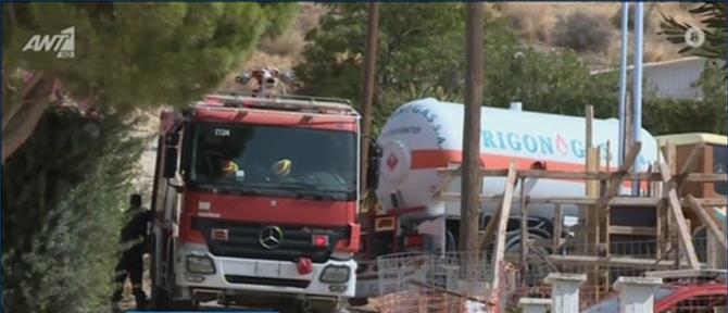 Καλύβια: Έκρηξη και φωτιά σε σπίτι