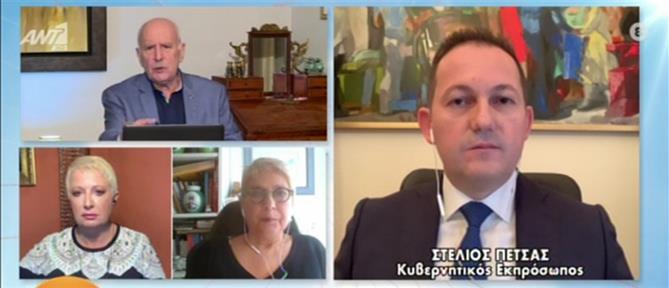 Πέτσας στον ΑΝΤ1: Δύσκολο να επιτραπεί η μετακίνηση από νομό σε νομό (βίντεο)