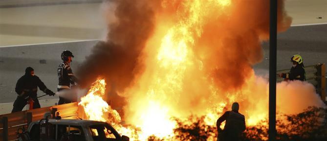 F1: Τρομακτικό ατύχημα στην πίστα του Μπαχρέιν - Στις φλόγες μονοθέσιο (βίντεο)