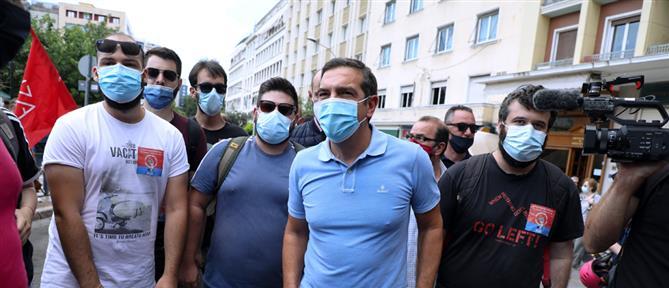 Εργασιακό νομοσχέδιο - απεργία: οι πολιτικοί αρχηγοί βγήκαν στον δρόμο (εικόνες)