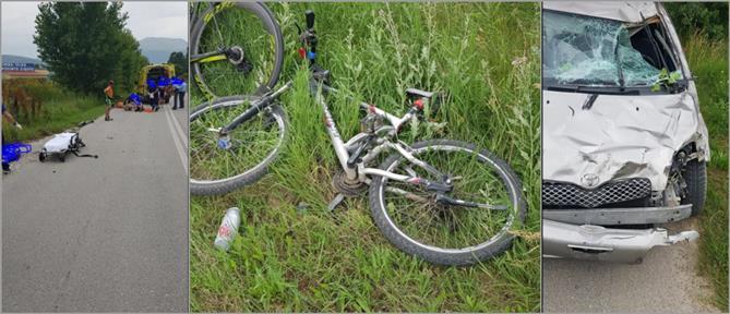 Οδηγός παρέσυρε ποδηλάτες στην Πτολεμαΐδα (εικόνες)