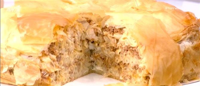 Παστίτσιο με φύλλο κρούστας από τον Πέτρο Συρίγο