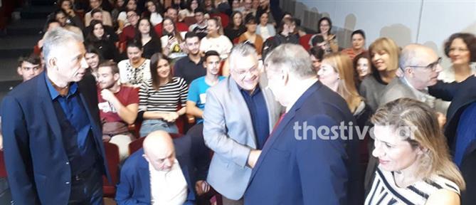 Ευάγγελος Βενιζέλος: επιστροφή στις αίθουσες του ΑΠΘ… με χειροκροτήματα (εικόνες)