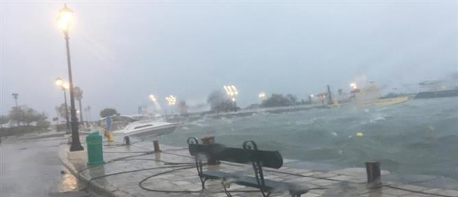 """Καιρός: Επιμένει ο """"Ιανός"""" με ισχυρές καταιγίδες και μποφόρ"""