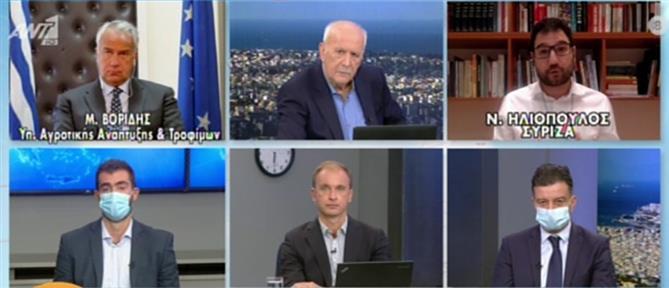 Βορίδης-Ηλιόπουλος: Αντιπαράθεση στον ΑΝΤ1 για τη διαχείριση της πανδημίας (βίντεο)